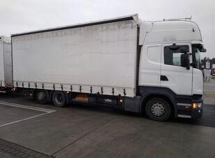 camion bâché SCANIA R450 komplet + remorque bâchée