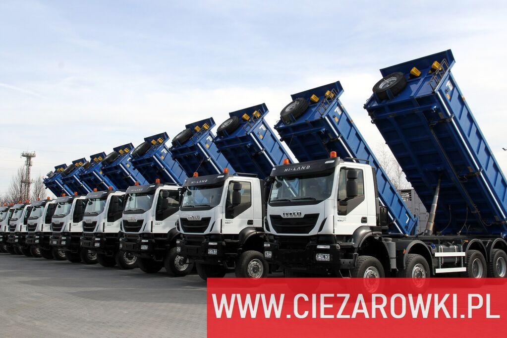 camion-benne IVECO Trakker 450 , E6 , 8x8 , 3-side tipper , retarder 10 UNITS FOR S