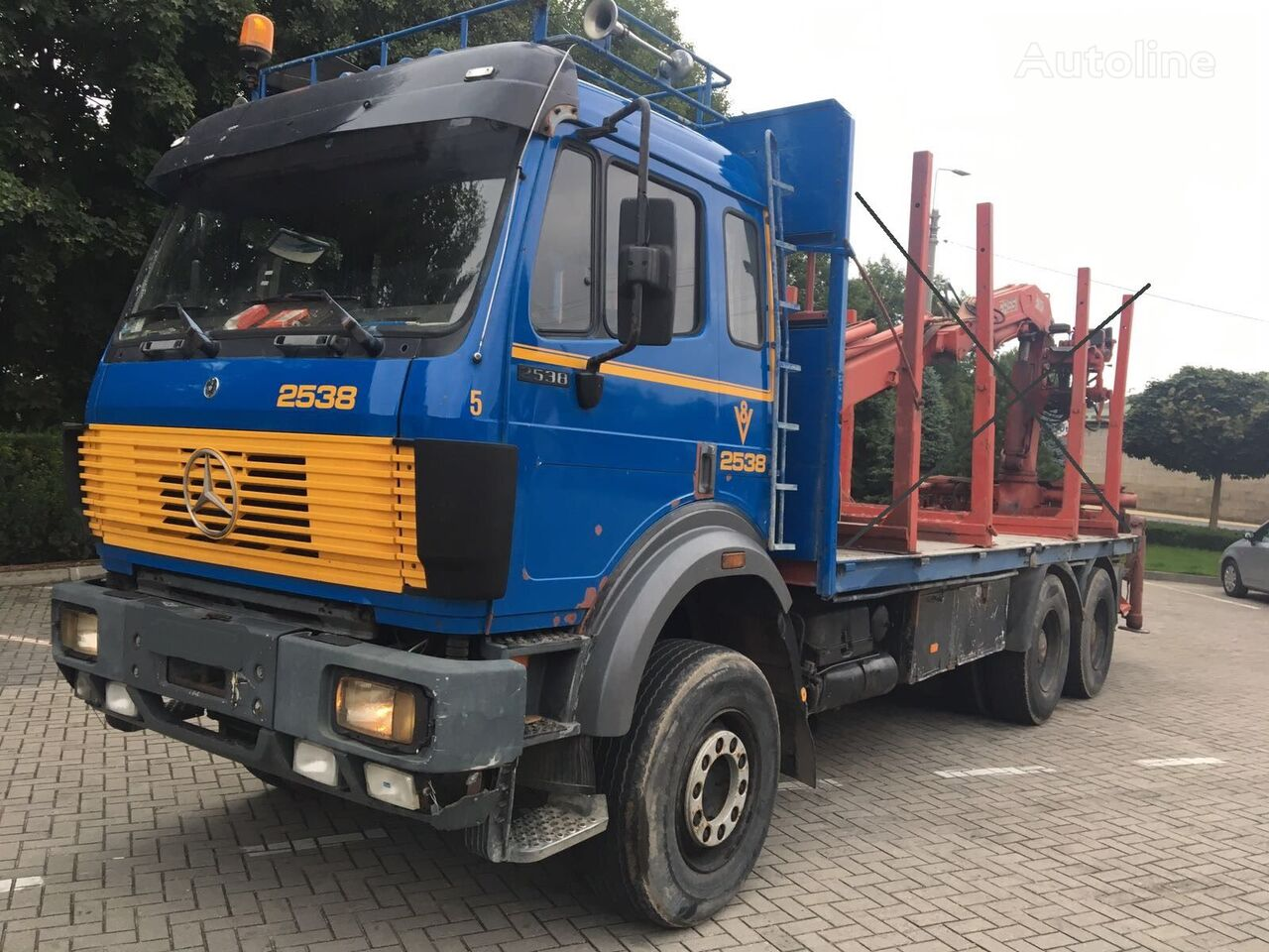 camion châssis MERCEDES-BENZ 2538  6x4, full spring, without crane
