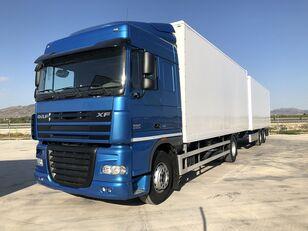 camion fourgon DAF XF 105.460 Y REMOLQUE KRONE + remorque fourgon