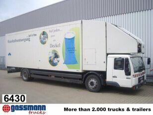 camion fourgon MAN L89 18.224 mit Schubboden und Förderband