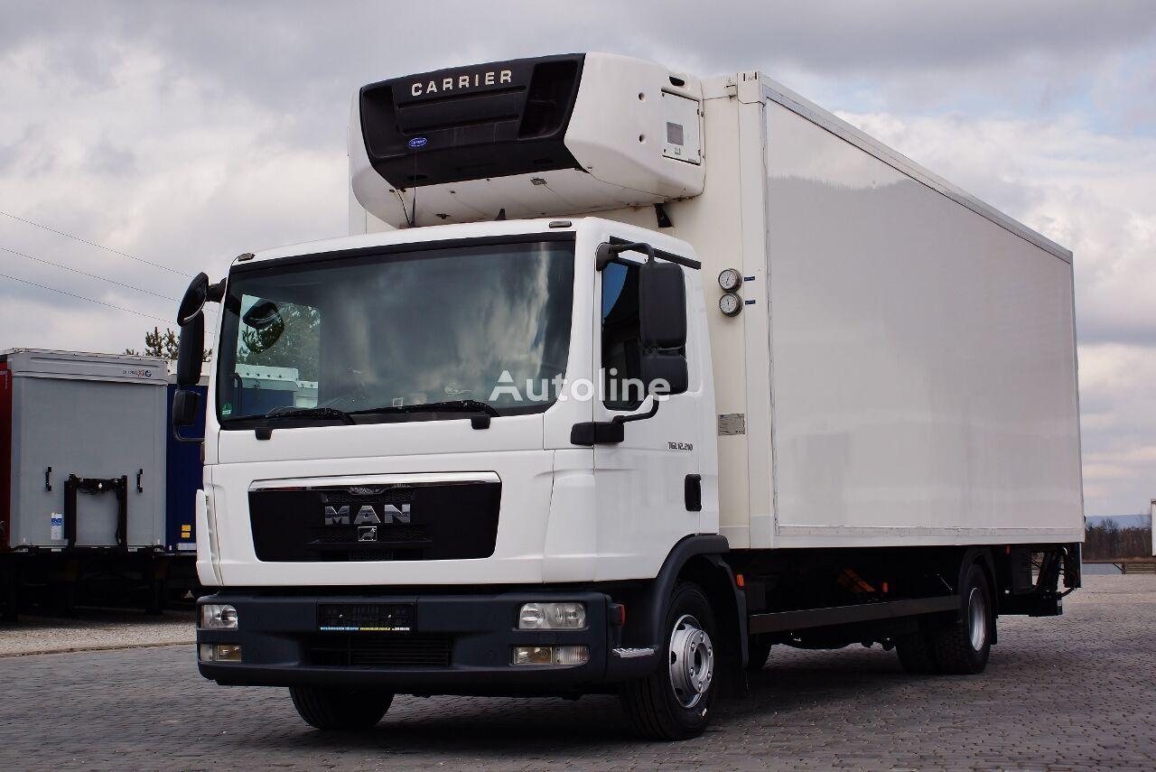 camion frigorifique MAN TGL 12.210 CARRIER SUPRA MANUAL PERFECT GERMAN TRUCK LBW PALFING