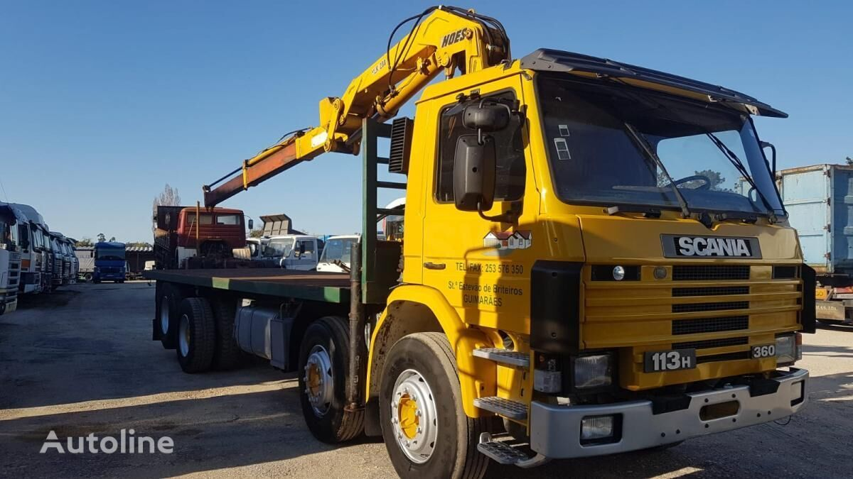 camion plate-forme SCANIA 113H 360 20TONS CRANE