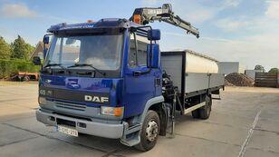 camion plateau DAF 45.160 Ti / 8 x Bolts Full Spring / HIAB 060