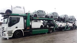 camion porte-voitures IVECO STRALIS 450 + remorque porte-voitures