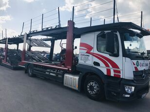 camion porte-voitures MERCEDES-BENZ Actros 1840 Euro 6 + Lohr CHR + remorque porte-voitures