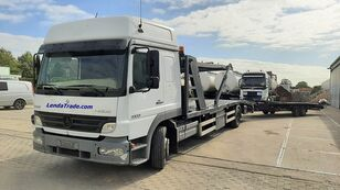 camion porte-voitures MERCEDES-BENZ Atego 1323 / 7 Cars / Winch / Airco + remorque porte-voitures