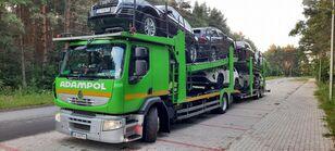 camion porte-voitures RENAULT Premium 410 + remorque porte-voitures