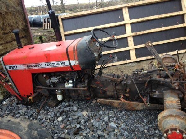 tracteur roues massey ferguson 290 pour pi ces de rechange de l 39 irlande acheter tracteur. Black Bedroom Furniture Sets. Home Design Ideas