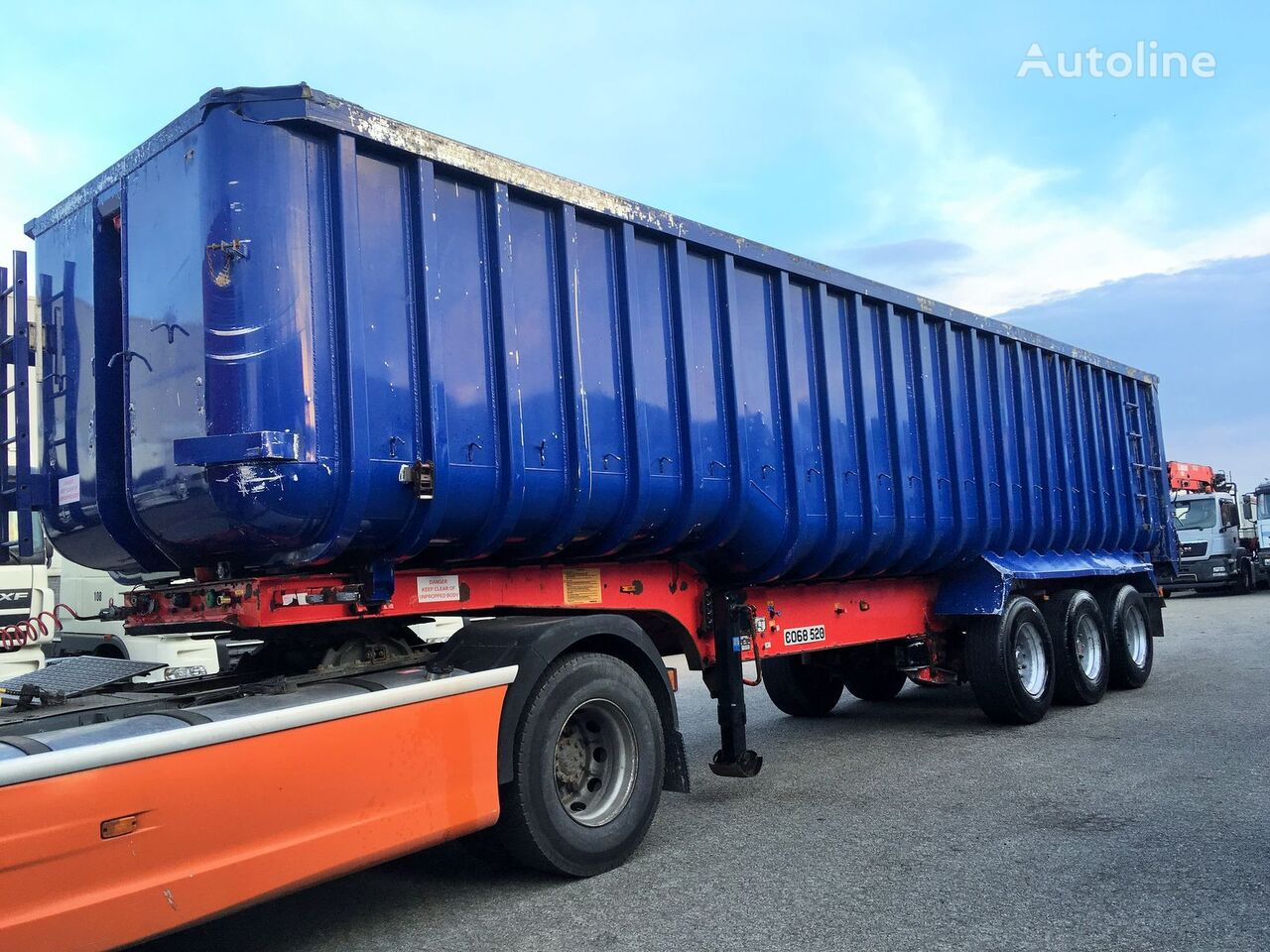 Semi-remorque benne General Trailers ALU tipper 51m3