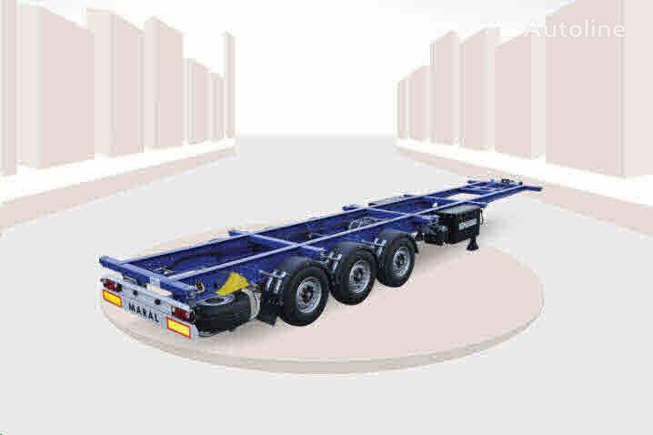 Vente des semi remorque porte conteneur maral trailer for Container prix neuf