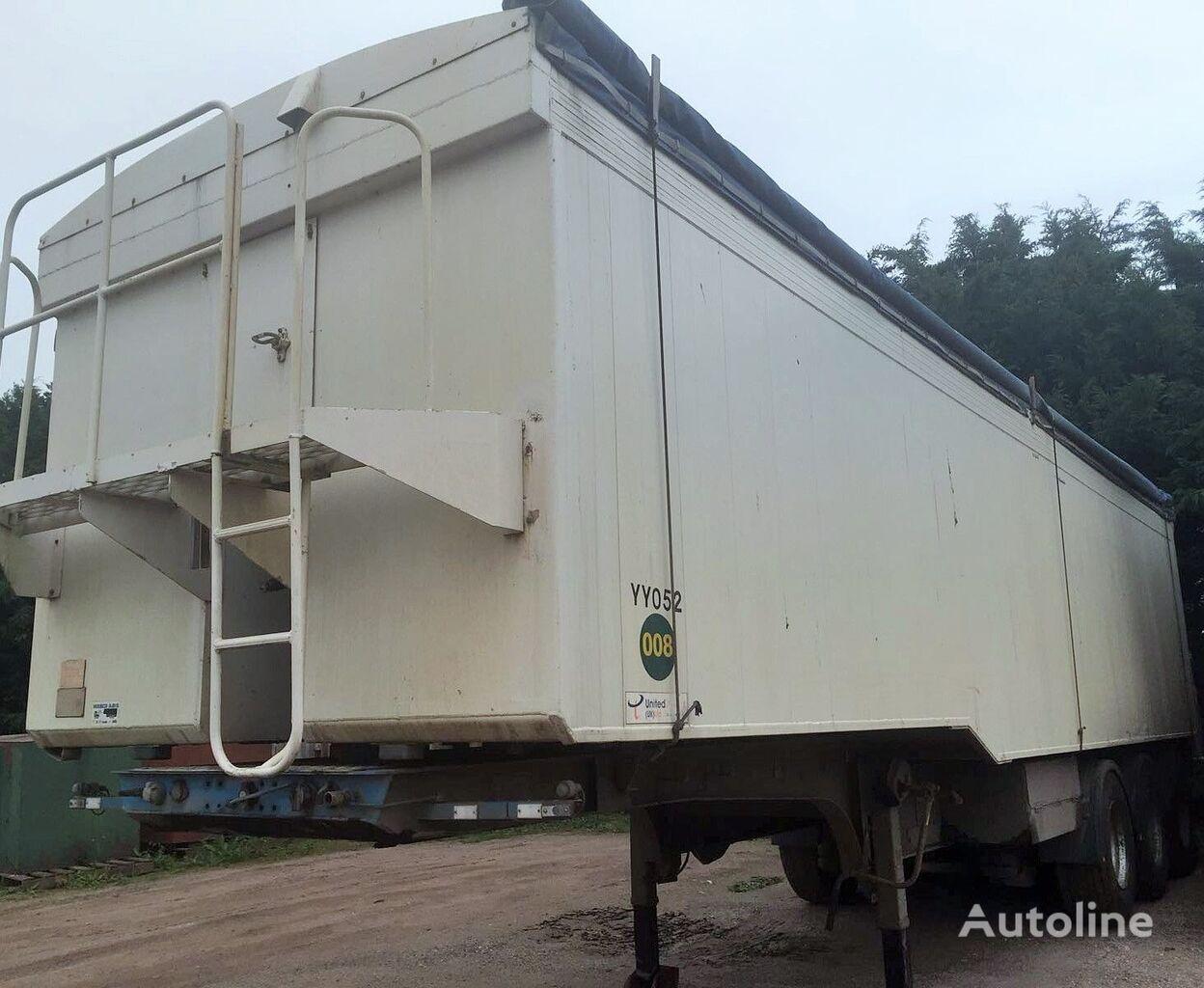 semi-remorque transport de céréales FRUEHAUF KIPPER 53M3 ALU