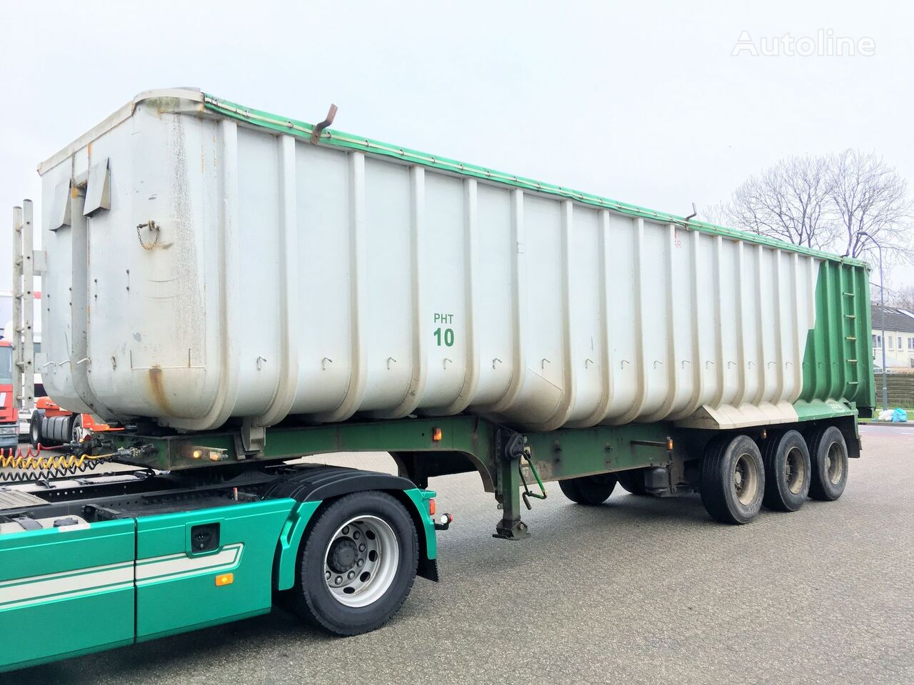 GENERAL-TRAILERS Kipper - Fruehauf 49m3 ALU/Steel - Cover semi-remorque transport de céréales