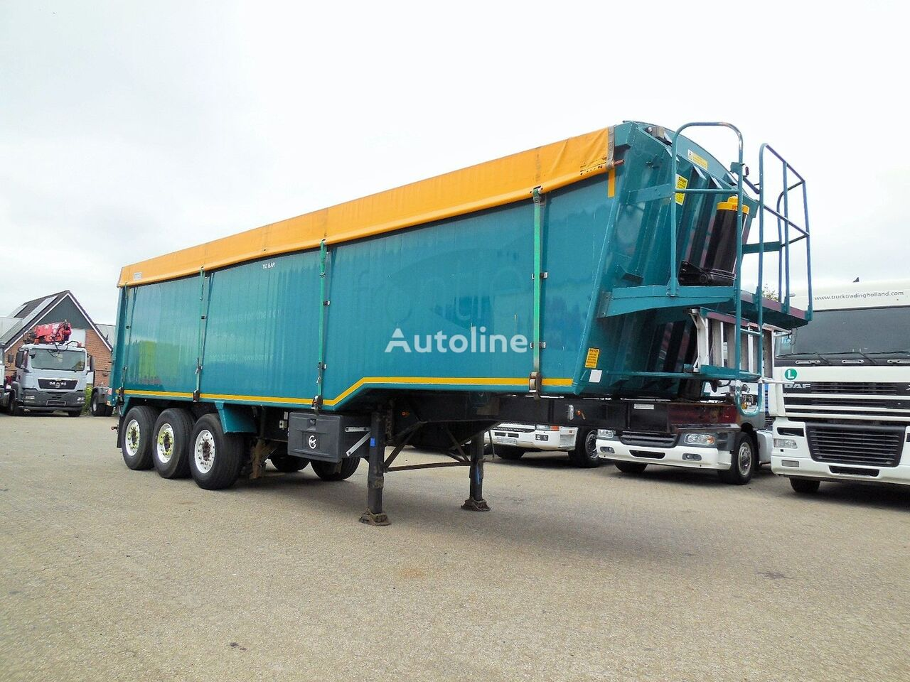 semi-remorque transport de céréales Weightlifter Tipper 51m3 - alu + steel chassis